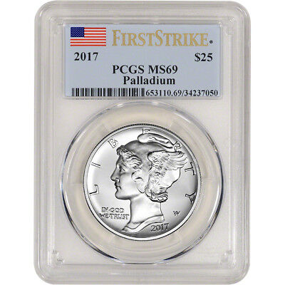 2017 American Palladium Eagle (1 oz) $25 - PCGS MS69 - First Strike
