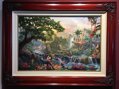 Thomas Kinkade Jungle Book Giclee Canvas 18x27 170/1155 SN Disney Dreams Framed