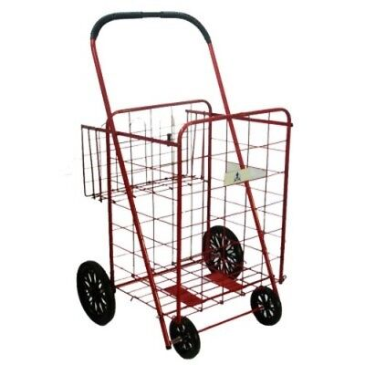 NEW Trimmer Large Basket Shopping / Grocery Cart Red