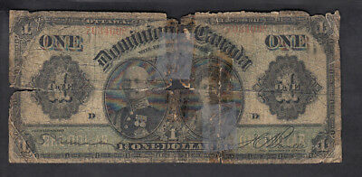 1911 Dominion Of Canada 1$ Dollars Bank Note