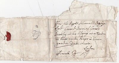 1673 EARLY FREE LETTER BISHOPMARK CONGLETON TO HON LORD BARON DIGBIE 3d DELETED