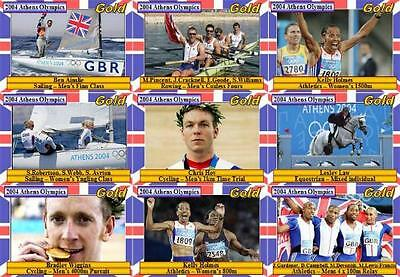British Gold Medal winners Athens Olympics 2004 Trading Cards