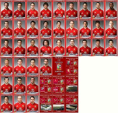 British and Irish Lions tour of South Africa 2009 Rugby Trading Cards