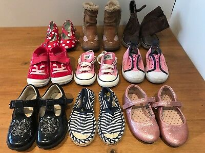 Joblot bundle of kids Shoes Trainers Boots- size 6 Toddle Girls Nike Clarks
