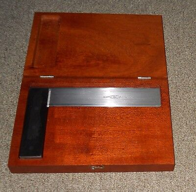Brown & Sharp #542 Hardened Steel Square with Beveled Edges & Box