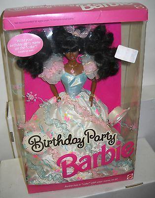 #6375 NRFB Mattel Birthday Party African American Barbie Doll