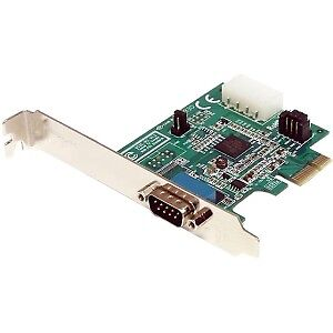 NEW! Startech 1 Port Native Pci Express Rs232 Serial Adapter Card With 16950 Uar