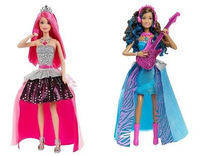 Barbie Rock 'n Royals Doll Singing Courtney Erika Transforms Into Princess New