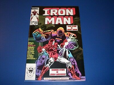 Iron Man #200 1st Iron Monger VF+ Beauty Key Wow