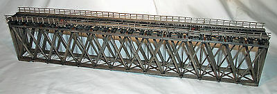 170' HOWE TRUSS DECK BRIDGE S On30 Model Railroad Structure Unpainted Kit HL110S