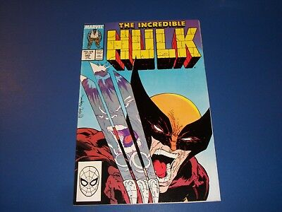 Incredible Hulk #340 McFarlane Wolverine vs Hulk Best Cover Ever! VF+ Beauty Wow