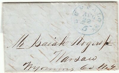 1849 Buffalo Ny Stampless Folded Letter To Warsaw Ny Good Content  Fish Selling