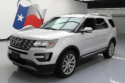 2016 Ford Explorer Limited Sport Utility 4-Door 2016 FORD EXPLORER LTD AWD LEATHER NAV 3RD ROW 20'S 45K #B66358 Texas Direct