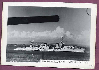 1930s Heavy Cruiser CA-28 USS Louisville US Navy Photo