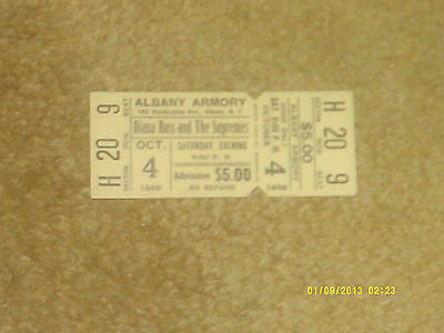 SUPREMES w/Diana Ross full concert ticket ALBANY ARMORY, NY 10/4/69 (NM shape)