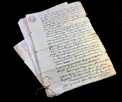 Collection Of Five Antique Documents    1813