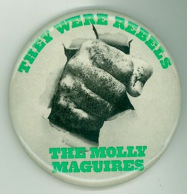 Vintage 1970 The Molly Maguires Movie Advertising Pinback Button Sean Connery