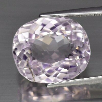 9.16ct 13x11mm Oval Natural Untreated Pink Kunzite, Glowing!