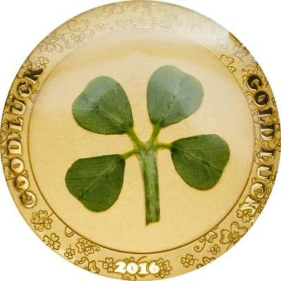 Palau 2016 1$ Four Leaf Clover in Gold 1g Limited Gold Coin