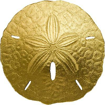 Palau 2017 1$ Sand Dollar 1g 9999 Gold BU Coin Very Limited to 2017 pcs