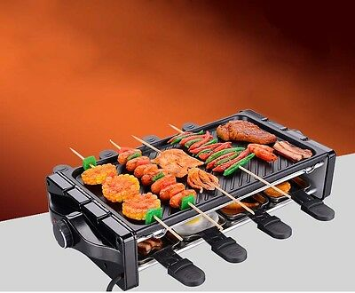 Commercial Non Stick Smokeless Stainless Steel Portable Double Electric Grill *