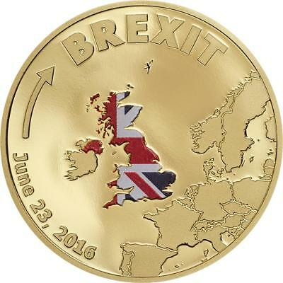 Cook Islands 2016 20 Dollars Gold Coin 1/10 Oz Brexit UK chose to Leave EU BGM