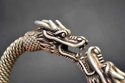 Vintage Collectible Old Tibet Silver Dragon true to life nice bracelet