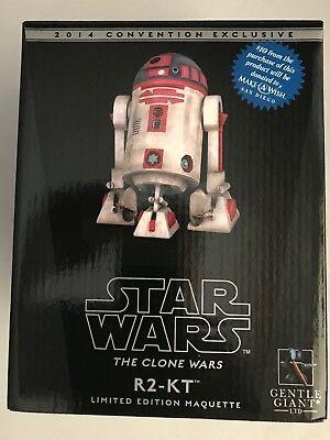 Star Wars Pink October R2-KT Statue-New-Sealed R2D2 Gentle Giant Clone Wars