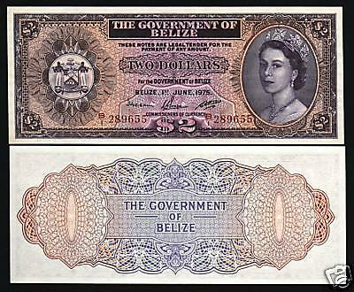 BELIZE 20 DOLLARS P37 c 1976 QUEEN ARMS RARE CARIBBEAN CURRENCY MONEY BANK NOTE