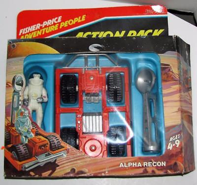 Vintage 1982 Fisher-Price Adventure People Alpha Recon Action Pack Boxed