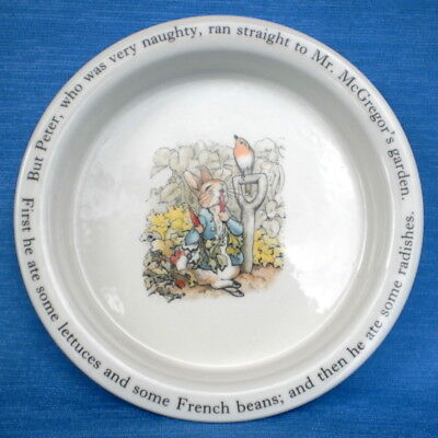 Quality 1997 Wedgwood Frederick Warne Peter Rabbit Bowl In Excellent Condition