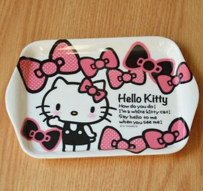 Dinnerware Cute Hellokitty Melamine Plate Dish Fruit Snack Tray Tableware A69Ka2