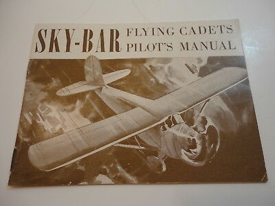 1940s sky-bar necco candy bar flying cadets booklet ~ premium badges