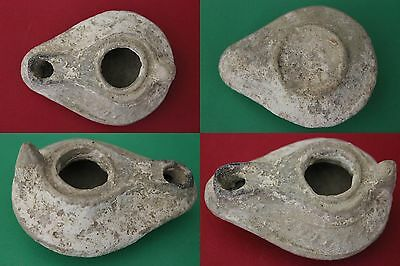 GUARANTEED AUTHENTIC Holy Land Roman Oil Lamp 100-400 AD w/COA USA Seller M019