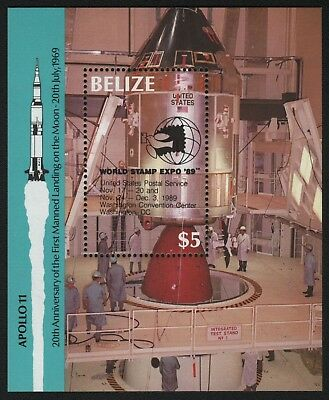 Belize 1989 - Mi-Nr. Block 98 ** - MNH - Raumfahrt / Space