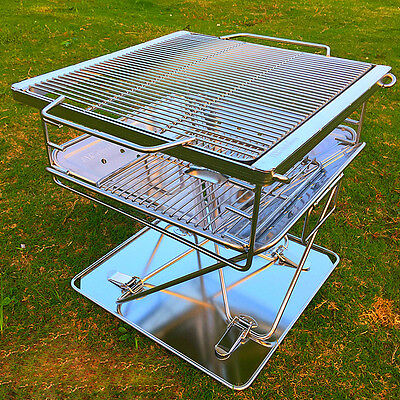 Stainless Steel Height 41cm Household Outdoor Portable Grill  charcoal BBQ *