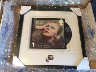 Official Royal Mail DAVID BOWIE Framed LTD 950 Numbered Frame Hunky Dory