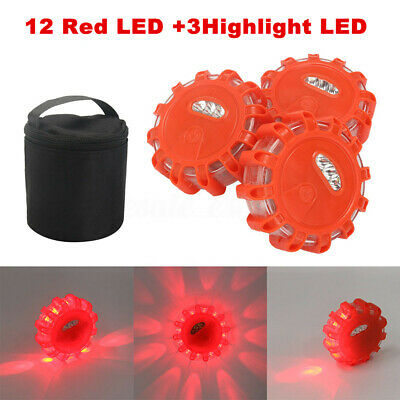 1/3Pack LED Road Flares Flashing Warning Roadside Safety Light for Car Truck