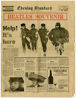 The Beatles 1965 Help! Evening Standard UK Newspaper Pages