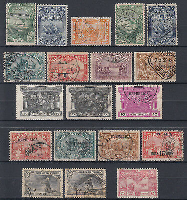 PORTUGAL 1894 - 1923 ☀ small collection / lot of 19 used - REPUBLICA overprint