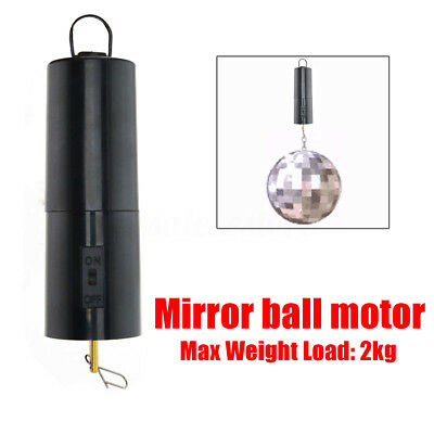 New Mirror Ball Motor Spin Battery Operated Rotating Turning Disco Party Wedding