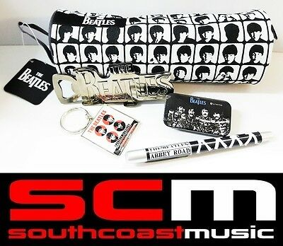 The Ultimate Beatles Gift Pack! Pencil Case Key Ring Bottle Opener Pick Tin Pen