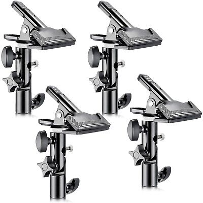 """Neewer 4 PCS Photo Studio Heavy Duty Metal Clamp Holder with 5/8"""" Light Stand"""