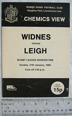 1980 programme Widnes v. Leigh