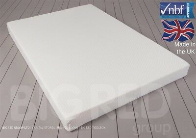 Orthopaedic Memory Foam Mattress w/ Washable Cover | Double 4ft6"