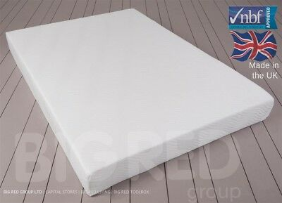 "Orthopaedic Luxury Memory Foam Mattress w/ Washable Cover | Double 4ft 6"" 135cm"