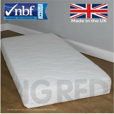 3FT Single Pocket Spring Luxury Memory Foam Mattress | Washable Cover