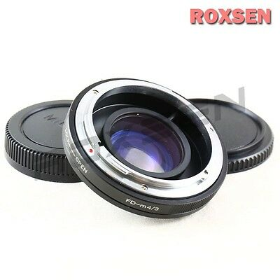 US Focal Reducer Speed Booster Adapter Canon FD mount lens to Micro 4/3 GH4 OM-D
