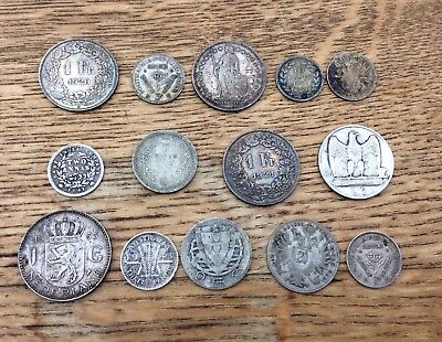 Selection Of Silver Coins from Around The World