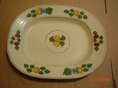 Adams Titian Ware Hand Painted Pattern Number 673692 Circa 1920's Small Platter
